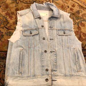 Frayed rag and bone denim vest